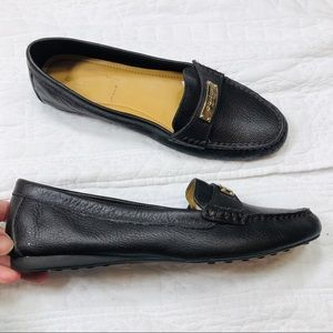 Coach Frederica black leather loafer shoes sz8.5